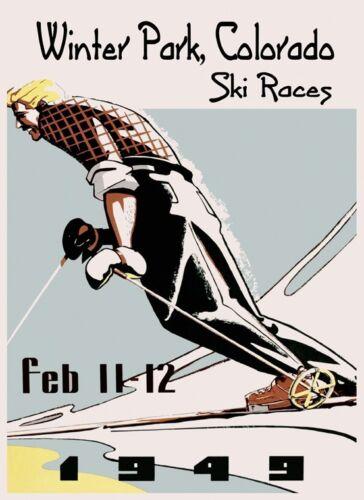 Winter Park Colorado Ski Races Skiing 1924 Sport Vintage Poster Repro FREE S//H
