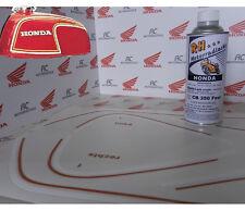 Honda CB350 Four Color Paint Kit Matador Red incl Fuel Tank Decal Stripes Orange