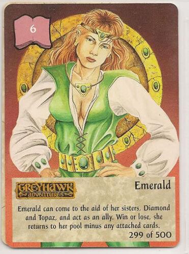 Spellfire 4th Edition Card M/NM 299/500 Emerald