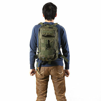 Green 30L Military Tactical Backpack Rucksack Sport Camp Molle Trekking Bag 600D