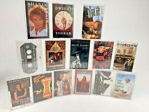 Lot of 14 1990's Country Stars Cassette Tape -Brooks Strait Judd's Travis & More