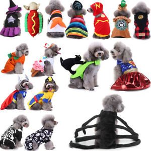 Halloween-Dog-Cat-Clothes-Pet-Pumpkin-Skull-Puppy-Hoodie-Dress-Cosplay-Costume