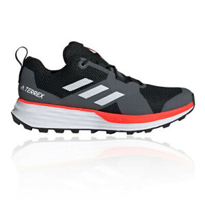 Details about adidas Mens Terrex Two Trail Running Shoes Trainers Sneakers - Black Orange