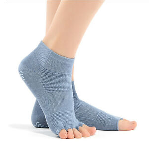 Unisex-Grip-Full-Toe-Low-Rise-Socks-Size-6-9-Purified-Cotton-Blue