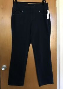 Jag-Jeans-Pull-On-Peri-Straight-Stretch-Comfort-Plus-Size-16W-After-Midnight-NWT