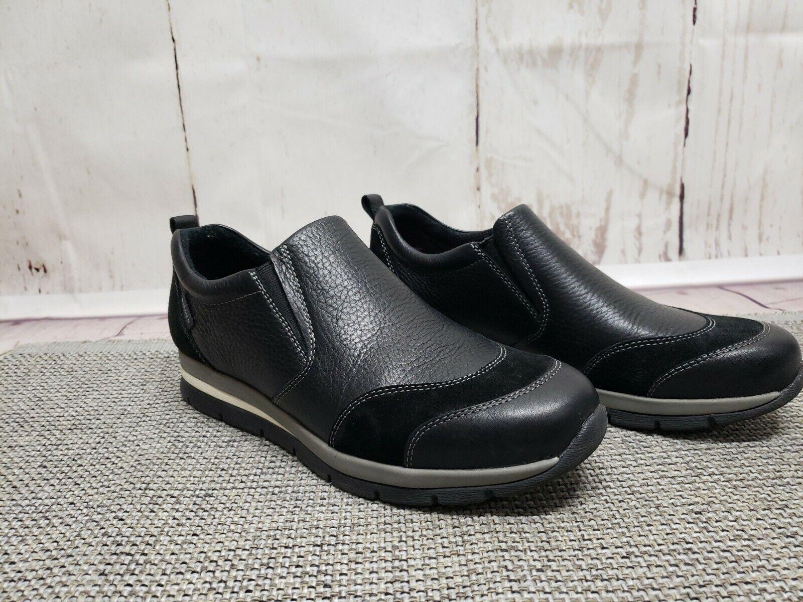 Bionica Tampa Black Leather Womens Shoes Sz 8.5 M Slip On Comfort Walking