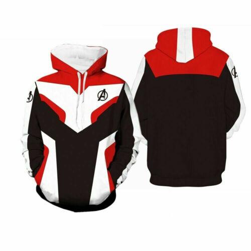 Avengers 4 Endgame Hoodies Sweatshirts Cosplay Sweater Jacket Coat AU STOCK