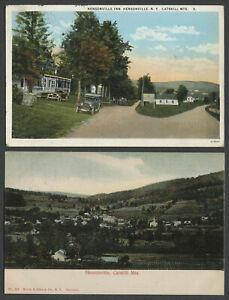 Hensonville-Windham-Greene-County-NY-Two-c-1906-20-Postcards-BIRDSEYE-VIEW-INN
