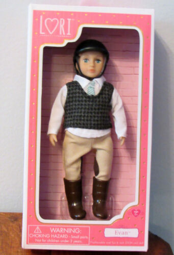 "Our Generation Lori Doll EVAN Equestrian Horse Riding Blonde ** BOY ** 6/"" NIB"