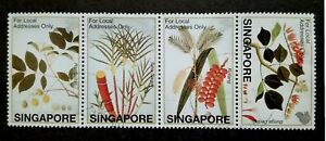 Singapore-2002-Farquhar-Collection-Fruits-amp-Plants-Strip-Of-4-4v-Used