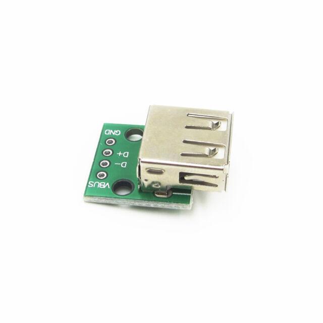 USB Female Port Connector Breakout Board Power 2.54mm Header Arduino UK Seller