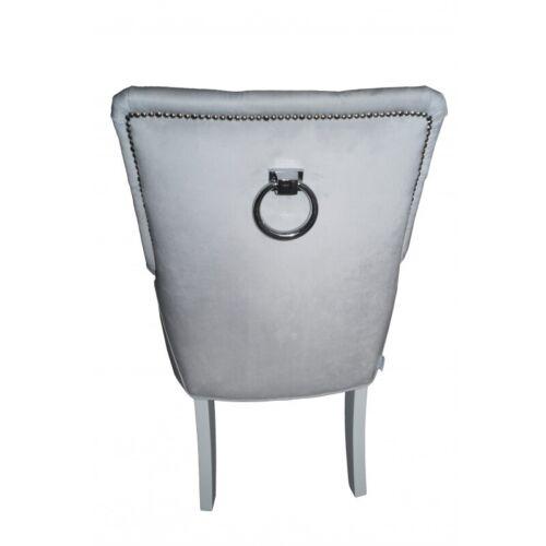 Klassische Chesterfield Polster Sessel Stuhl 1 Sitzer Lehn Sühle Grau Textil