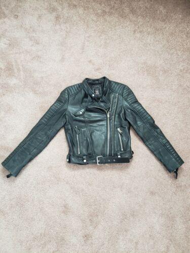 Zara Trafaluc Biker Black Real Leather Jacket - S