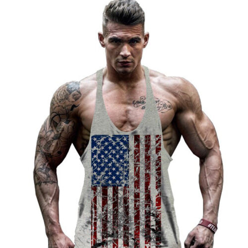 Mens Bodybuilding Muscle Tank Top Sleeveless Gym Sport Fitness Singlet T-shirt