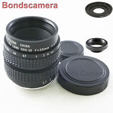 "35mm F/1.7 C mount 2/3"" CCTV lens for SONY E Mount NEX-5 3 5N C3 7 A6000 + macro"