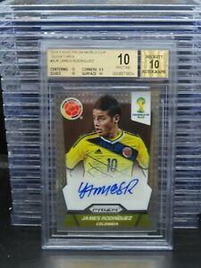 2014 Prizm World Cup James Rodriguez Auto Autograph BGS 10/10 POP 8 Colombia R90