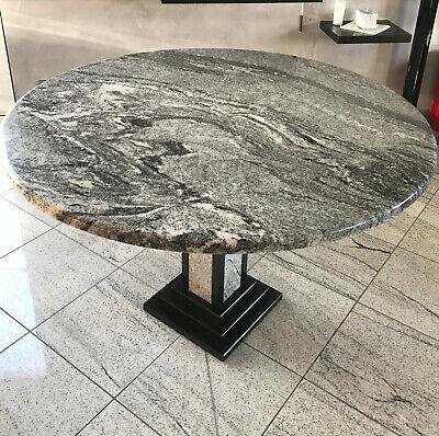Exklusiver Design Granittisch mit Granitsäule Esstisch Granit Tisch Naturstein | eBay