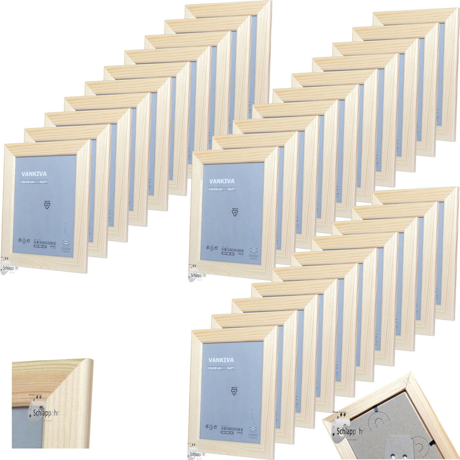 30-er Set IKEA VANKIVA 13x18 cm Kiefer Holz Foto.- Bilderrahmen Einrahmung Natur | Online Outlet Shop