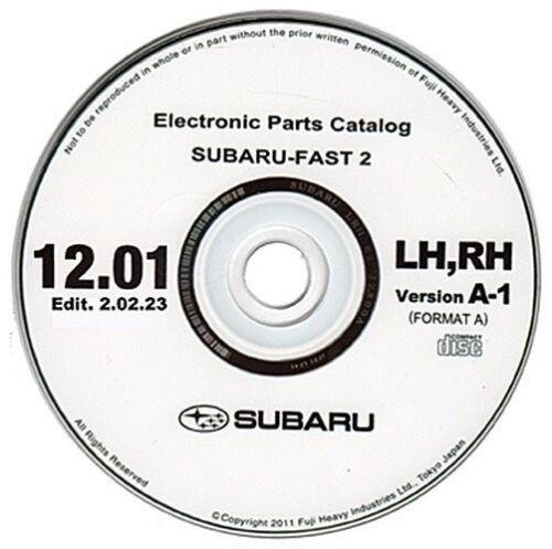 Subaru EPC 1//2012 Europe spare parts catalogo ricambi