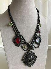 NWT 100% Betsey Johnson Skull Rabbit Spider Mirror Necklace