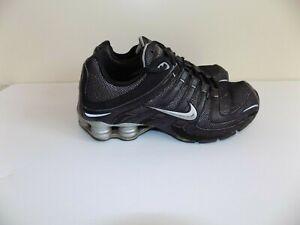 Nike-Shox-Navina-Black-Silver-Running-Sneakers-Shoes-Woman-039-s-Sz-8