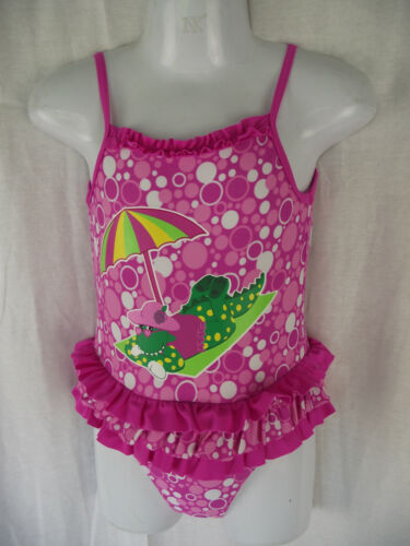 BNWT Girls Sz 1 Dorothy The Dinosaur Pretty Pink One Piece Swim Suit Bathers