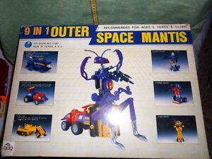 9 en 1 espace Mantis Robot Made Taiwan Vintage Jouets Rare Tout Neuf