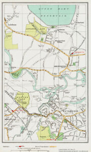 Weybridge Shepperton Area Map London 1932 153 Ebay