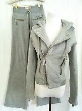 True Religion Grey Moto Sweat suit XS