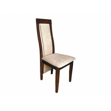 Set 8x Armchair Solid Wood Dining Chair Leather Upholstery CAFE GASTRO Dining