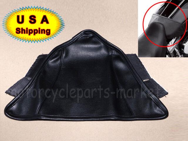 "5/"" Black Vinyl Air Box Cover Gas Fuel Tank Shield Bra For Harley VRSC 2002-later"