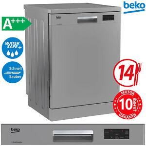 Beko A+++ Geschirrspüler 60cm Spülmaschine Unterbau freistehend AquaStop Silber