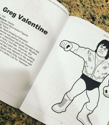 Unreleased Wrestling Action Figure Coloring Book WWE WWF WCW ECW NXT CZW ROH NWO