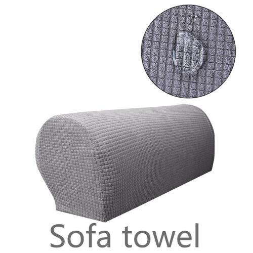 2x Spandex Stretch Armrest Arm Rest Covers Sofa Chair Skid Resistance Stretch