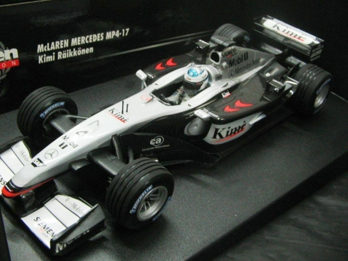 Wow extrêmement rare McLaren MP4 17 Kimi Raikkonen French GP 2002 1 18 Minichamps