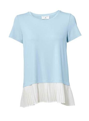 Rick Cardona Designer 2 in 1 Shirt hellblau weiß Gr 34 bis 40 Bluse Hemd