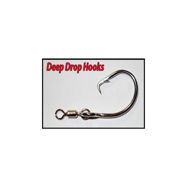 13 0 Edelstahl Tuna Circle Dropline Hooks x 50 BlauEYE