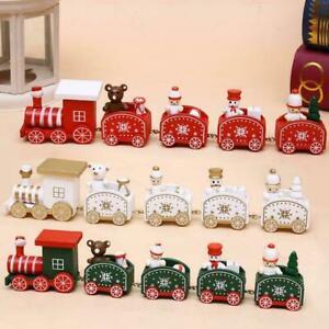 TRENO-di-Natale-in-legno-Babbo-Natale-Natale-Festival-Ornamento-Arredamento-vendita-P4V6