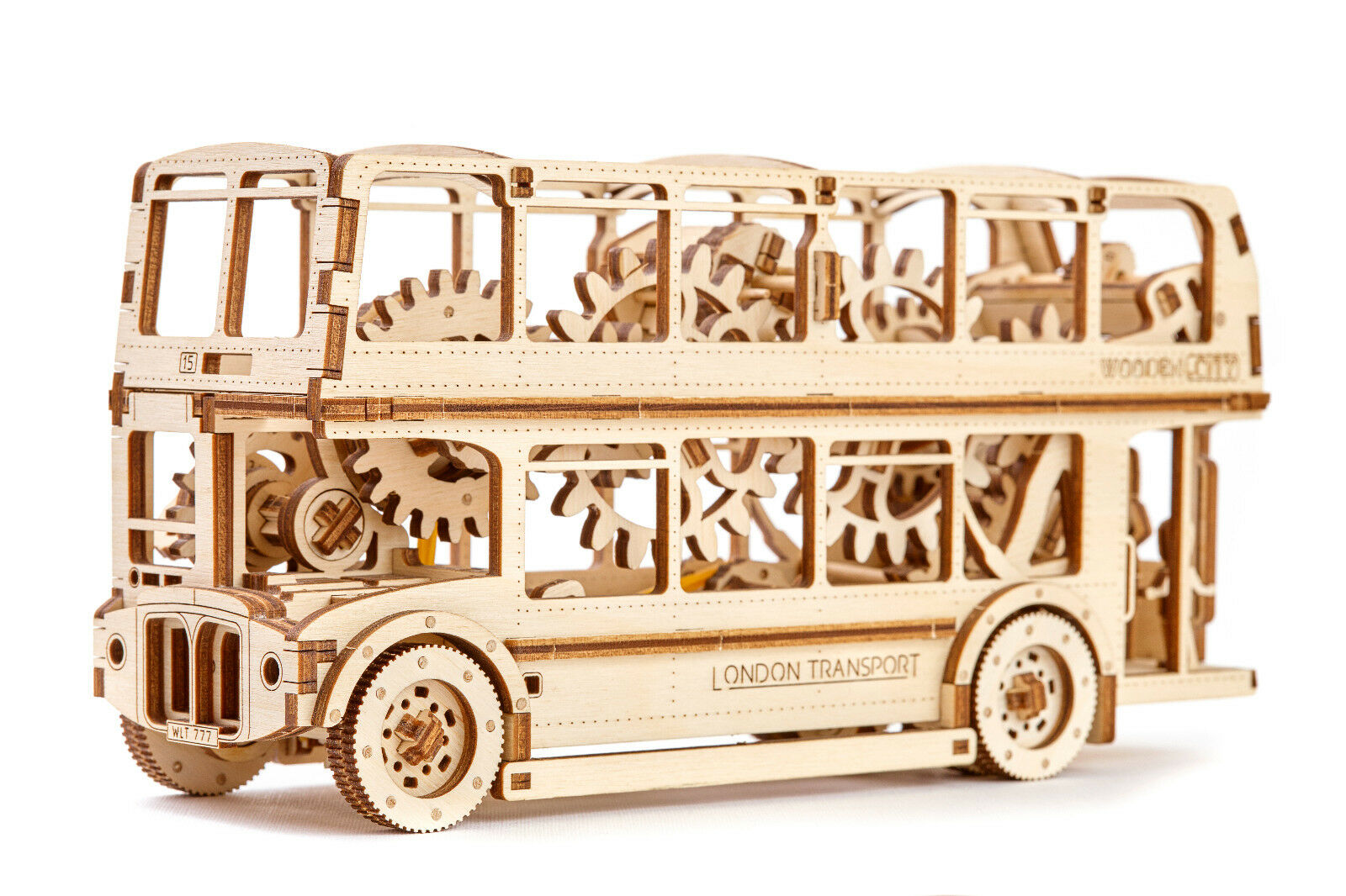 London Transport Bus Mechanical Wooden SELF ASSEMBLY KIT Official Wooden.city