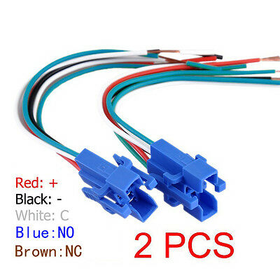 Socket Plug Wire Connector for 16mm Push Button Switch 5pin 1NO 1NC Pack of 2