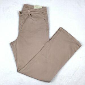 Soft-Surroundings-Womens-Boot-Cut-Jeans-Size-XL-Light-Pink-Denim-Wash-Stretch