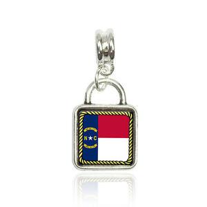 Made on Terra South Carolina State Flag Euro European Italian Style Bracelet Bead Charm