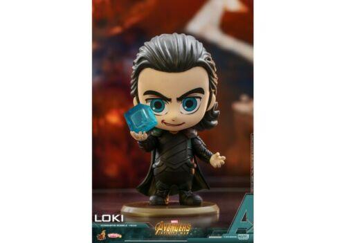 Hot Toys COSBABY Avengers Infinity War Bambola GARAGE KIT Loki TESSERACT Figure