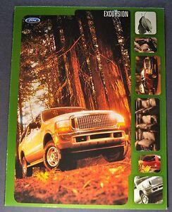 2000 Ford Excursion Truck Brochure Sheet Excellent Original Ebay