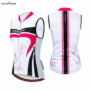 Women Sleeveless Cycling Jersey MTB Bike Mesh Tops Underwear Bicycle Vest Ladies