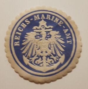 REICHS-MARINE-AMT-Siegelmarke-Vignette-9347-5