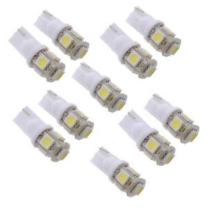 10x-T10-194-168-W5W-5050-SMD-5-LED-Veilleuse-Ampoule-Lampe-Blanc-Xenon-Voitur-3M