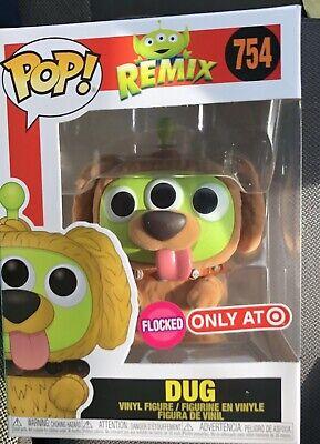 Vinyl Figure #754 Pixar Alien Remix Dug Flocked Exclusive Pop