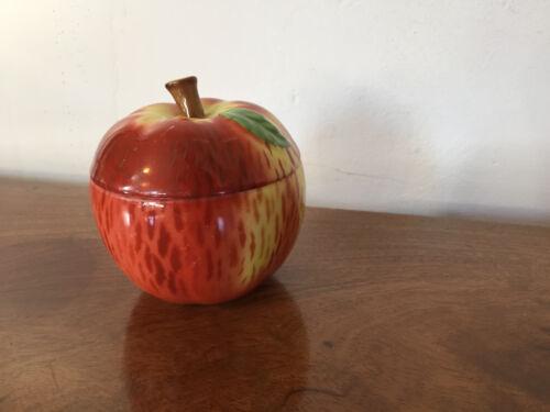 Vintage Czechoslovakia Porcelain Apple Box Tureen Jam Jar Art Deco Sugar Bowl