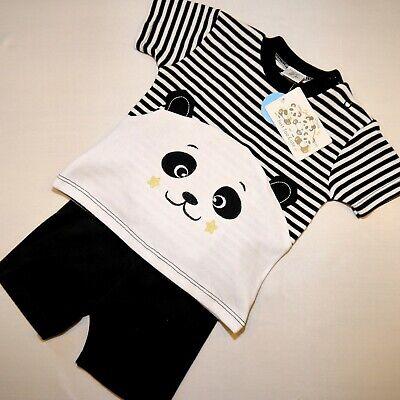 Praktisch ❤neu, 2tlg Baby Jungen Sommer Outfit Set, Panda Gr. 68,74,80 ❤❤
